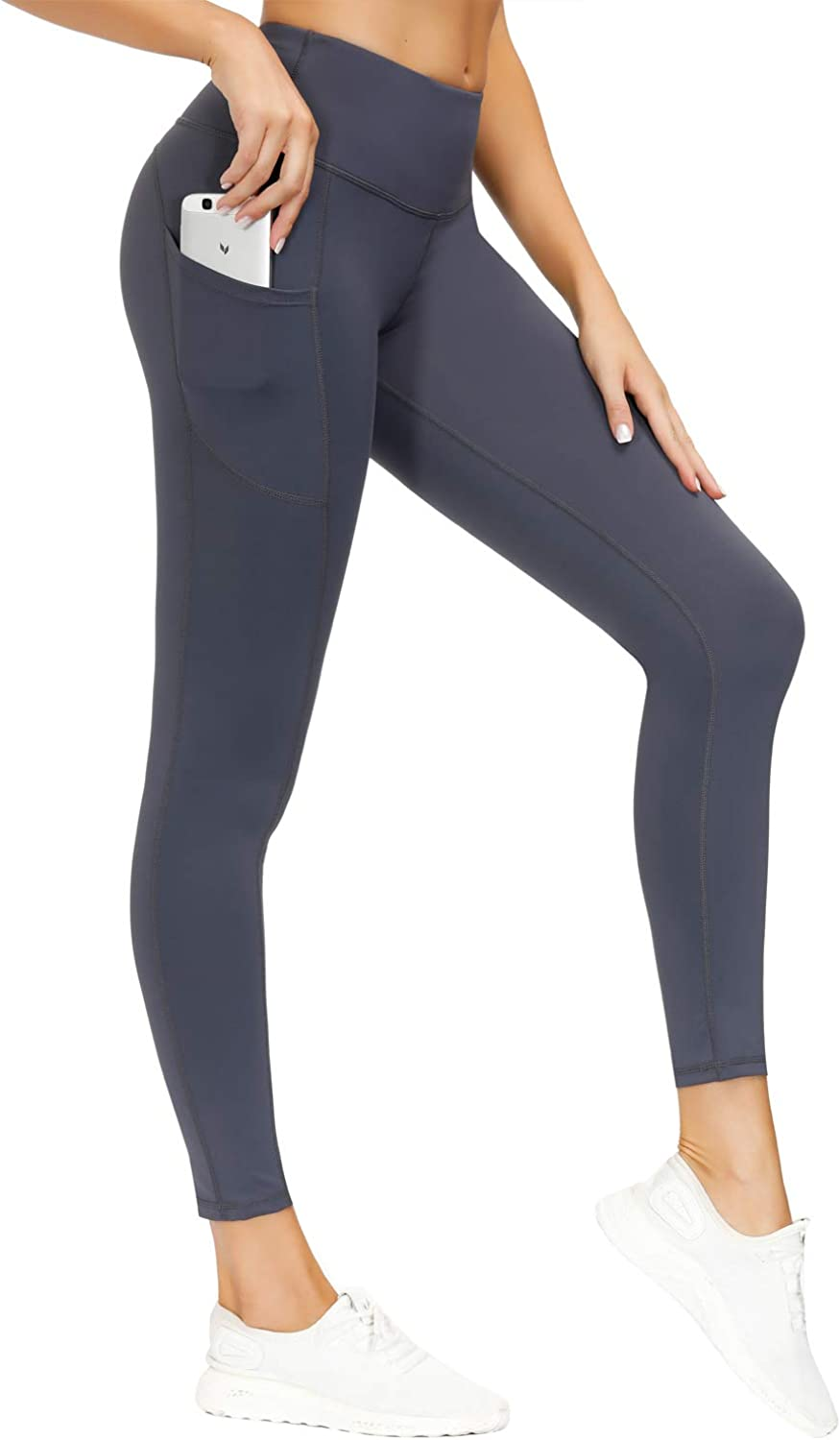 ZASDKE Yoga Pants with Pockets Gym Leggings Tummy Control Workout Running Trousers for Women