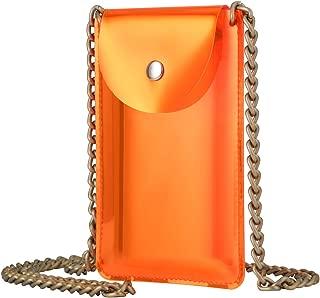 Nxconsu Clear Crossbody Bag AB Silicone Dynamic Colouring Phone Bag Money Wallet Stylish Purse For Women Girls