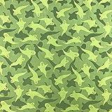Halloween Ghosts grün Design 100% Korean Baumwolle Super Weich bedruckter Stoff für, Kleid...
