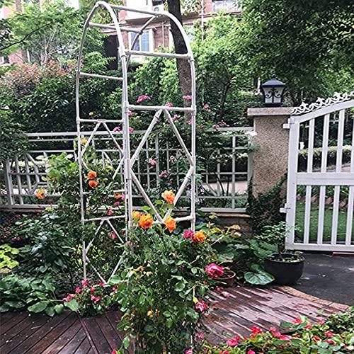 Arco De Jardín Con Altura De 240cm, Acero Galvanizado 20 Mm Arcos De Metal Cenador Soporte De Flores Soporte Para Trepadoras Arco De Boda Decoración De Jardín