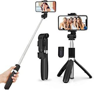 JOYSEUS Selfie Stick, Extendable Selfie Stick with Tripod Stand and Detachable Wireless Bluetooth Remote, Ultra Compact Se...