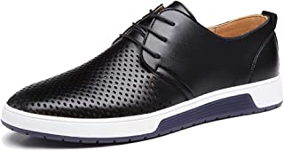 XMWEALTHY Mens British Style Breathable Flat Dress Shoes Fashion Sneakers