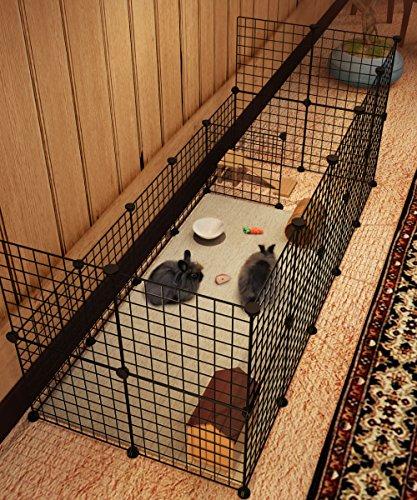 Stahlgitter Freigehege «Koossy», erweiterbarer Auslauf für Kleintiere, 12 Platten