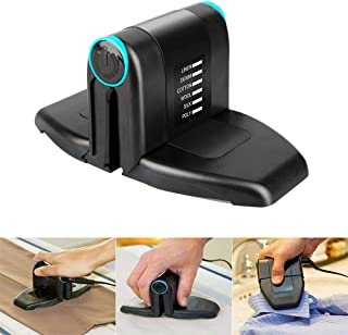 Soniker Folding Mini Collar Iron,Portable Electric Mini Iron Double Ironing with Anti Slip Handle and Non-Stick Soleplate Portable Hand Held Clothing Steam Power Iron for Home Travel Business
