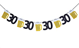Beer birthday Glitter Banner, Beer Garland - Cheers to 30 Years Banner, 30th Birthday Banner - 30th birthday Decor