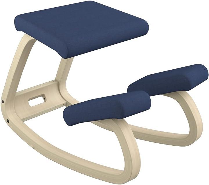 Sedia ergonomica, legno, blu, 72x52x51 cm varier variable F10005REV774