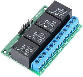 Modulo relè 5V 6 PIN a 4 canali per Arduino - Relay Module Scheda Arduino con optoisolatore accoppiatore - Set da 4 Moduli