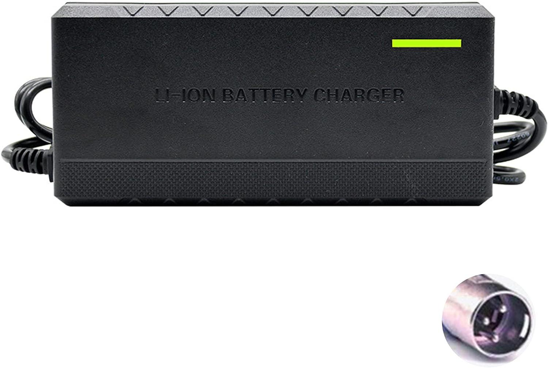 TSMALL Cargador de batería de Iones de Litio de 72 V, Carcasa de Material ABS, sin Carga/protección de Temperatura Adaptador de batería de Scooter eléctrico de Voltaje de Entrada 2A-10A