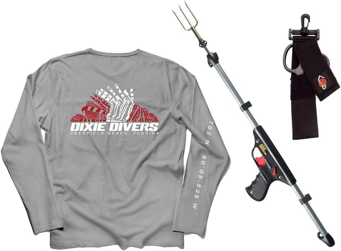DXDiver Lionfish Hunter Kit with UPF Outlet ☆ Free Shipping low-pricing Shirt Wicking Larg 50+ Size