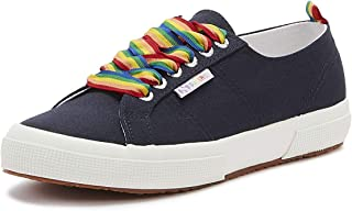 Superga 2750 COTW Rainbow Pop Womens Navy Trainers