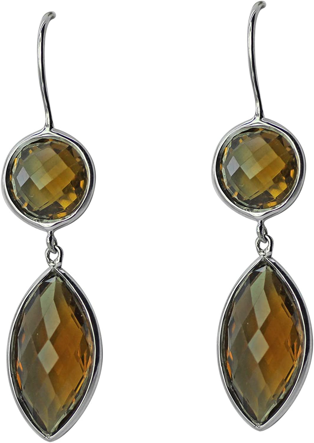Carillon Cognac Quartz Marquise Shape 67% OFF of fixed price Direct stock discount Jewelry 925 Gemstone Sterl