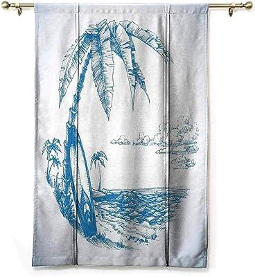 Surf Boards Valance Curtain 42 W x 13 L