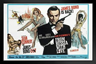 Pyramid America James BondFrom Russia with Love Black Wood Framed Art Poster 14x20