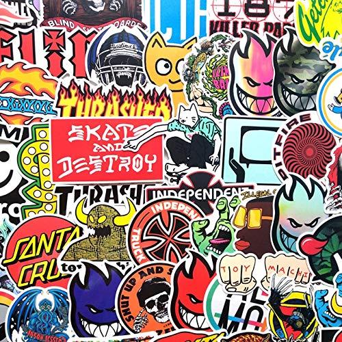 AXHZL Random Repeat Classic Fashion Style Graffiti Stickers For Car & Suitcase Cool Laptop Stickers Skateboard Sticker 50 Pcs