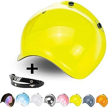 Visiere Bulle Bubble Moto M/écanisme Casque 3/Boutons Inclinable Flip-Up Jet l/ève et att/énue coupe-vent r/églable 3/hauteurs