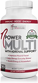 nPower Nutrition Multivitamin with Adrenal Support, Stress & Immune Support, Energy & Metabolism Booster, Gluten Free, 90 ...