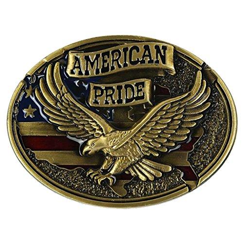 Sharplace Buckle Belt Boucle de ceinture Style Western Cowboy Motif Aigle American Pride Accessoires Déco de Vêtement Cadeau Idéal pour Femme Homme