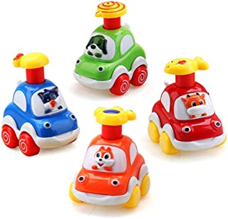 Sponsored Ad - Baby Toy Cars - Kids Cute Animal Push and Go Cars, Early Education and Development Toy for Children - Inclu...