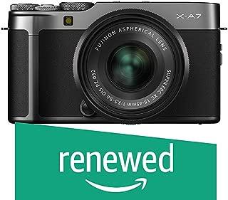 (Renewed) Fujifilm X-A7 Mirrorless Digital Camera w/XC15-45mm F3.5-5.6 OIS PZ Lens, Dark Silver