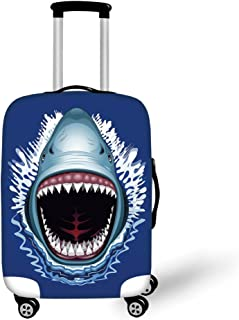 Travel Luggage Cover Suitcase Protector,Swimming in the River Rock Cliffs Tanzan