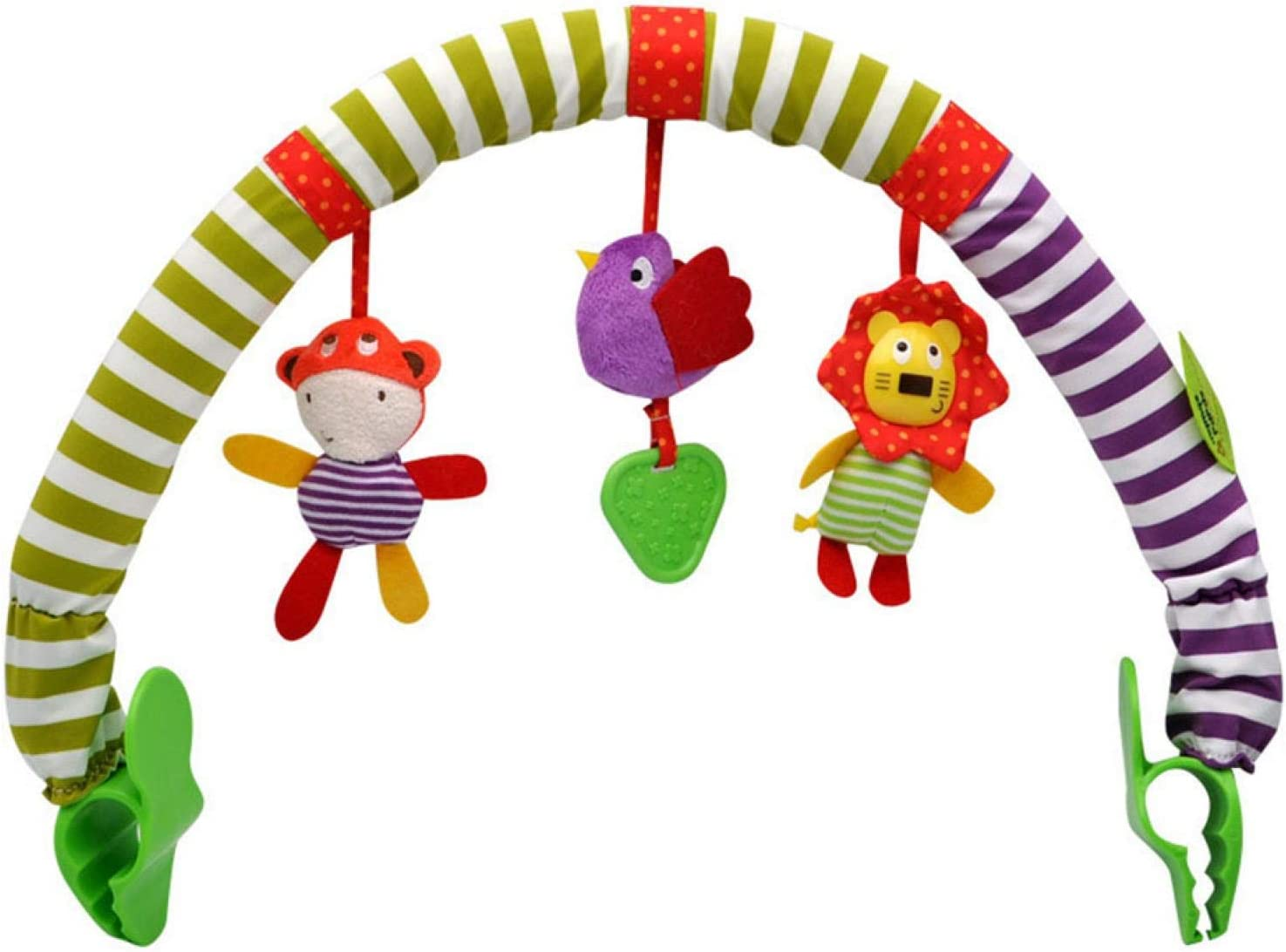 Musical Arch, Stroller Toys, Ideal for Infants & Toddlers, Fits Stroller, Activity Arch with Fascinating Toys, Stimulates Baby's Senses and Motor Skills Development(Bird Lion)