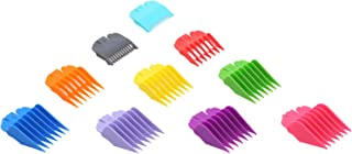 Adaskala 10PCS Hair Clipper Guide Comb Set for Wahl Hair Clippers Limit Combs Hair Trimmer Guards Attachments Hair Salon T...