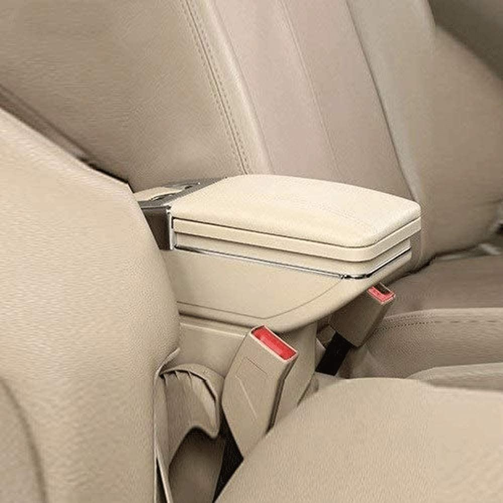 TDDRW Car Center Consoles Armrest For Ford Fiesta 2009-2017 Car Centre Console Storage Box Arm Rest Seat Armrest Box Car Accessories