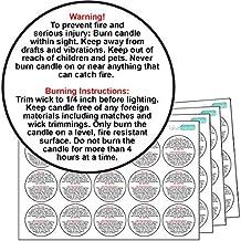 60 x vela de plástico brillante etiquetas de advertencia. 100% pegatinas resistente al agua. De la entrega. Vela etiquetas de seguridad.