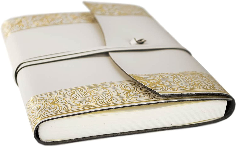 LEATHERKIND Angelus Recyceltes Leder Leder Leder Notizbuch Gold, A5 Blanko Seiten - Handgefertigt in Italien B00FY0UONE | Bevorzugtes Material  | Reichhaltiges Design  | Langfristiger Ruf  28bc17
