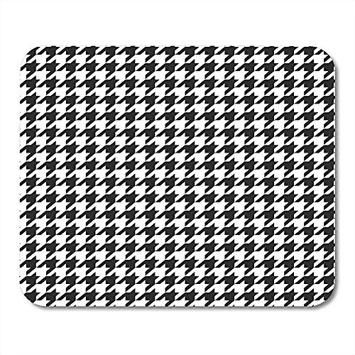 Mousepad Abstract Zwart en Wit Houndstooth Plaid Patroon Afwisselende Honden Tooth Check Blazer Mouse pad 25X30cm
