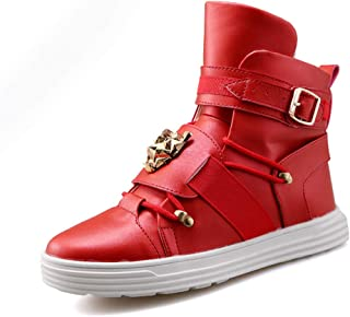 PP FASHION Men's Korean Style High Top Fashion Sneakers Basketball PU Leather Gym Training Running Stylish Casual Shoes Boots
