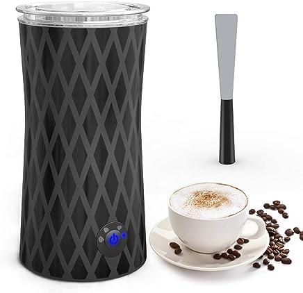 Espumador Batidor de leche electrico, 400W Espuma Leche Caliente/Frío, 4 Funciones con apagado automático, Disfrutar de lujo para Café, Latte, Cappuccino, Macchiato(115-240ml)