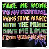 Generic Rave Festival Man Coachella Colorful Burning Music