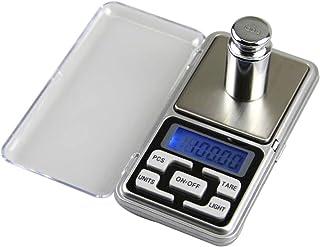 Lezed de precisión Mini de bolsillo portátil Báscula electrónica joyas de escala electrónica Báscula 0.1 g Precisión Cocina Electrónica Digital Cocina Pantalla LCD (Plata)