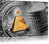 Illuminati Pyramide, black and white Dollar schwarz/weiß