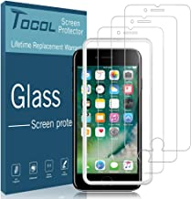 TOCOL [3Pack] for iPhone 7/8 Screen Protector Tempered Glass HD Clarity Touch Accurate [9H Hardness] + Easy Installation Tray with Lifetime Replacement Warranty