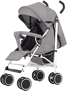 Compact Stroller Fold Lightweight, Pushchair, Buggy with Lying Position, with Reclining Backrest, 5-Point seat belt, From Birth To 15 Kg
