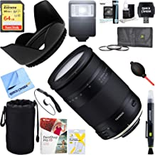 Tamron 18-400mm f/3.5-6.3 Di II VC HLD All-in-One Zoom Lens for Nikon Mount + 64GB Ultimate Filter & Flash Photography Bundle (AFB028N-700)