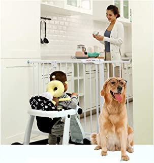Baby Gate Baby Child Safety Gate Bar Baby Gate with Dog Door Pet Isolation Fence Dual Lock Self Closing