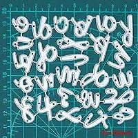 金属切削ダイス26pcsアルファベットクラフトダイカット金スクラップブック紙カードクラフトナイフ金型ブレードパンチステンシルダイ