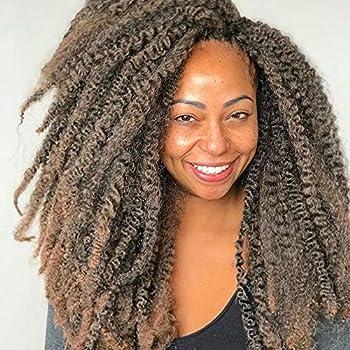 Wodun Marley Twist Hair Marley Hair for Twist Marley Twist Braid Hair Afro Kinky Braiding Hair 18 inches 6 Packs Maley Kinky Twist Hair for Braiding  18 inch-6pacs T 30
