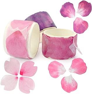 ZIIYAN 3 Rolls Flower Petal Stickers Masking Tape for Scrapbook, Bullet Journal, Planner, Arts and Crafts DIY, 80 Petals/Roll