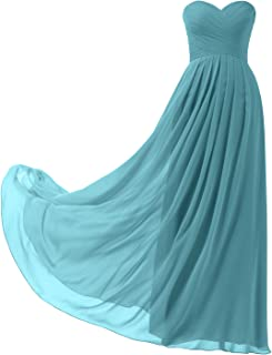 Remedios A-Line Chiffon Bridesmaid Dress Strapless Long Prom Evening Gown