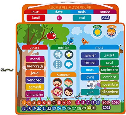 Janod   Agenda Magnétique Une Belle Journée   Calendrier Enfant