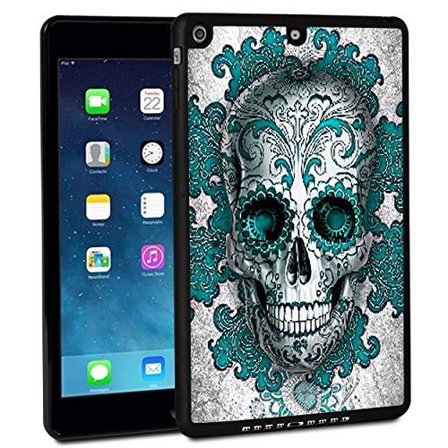 iPad 2018case, iPad Air 2case, Rossy antiurto duro della gomma paraurti custodia protettiva con Flower Sugar Skull modello e cavalletto per Apple iPad 24,6cm 6th Generation