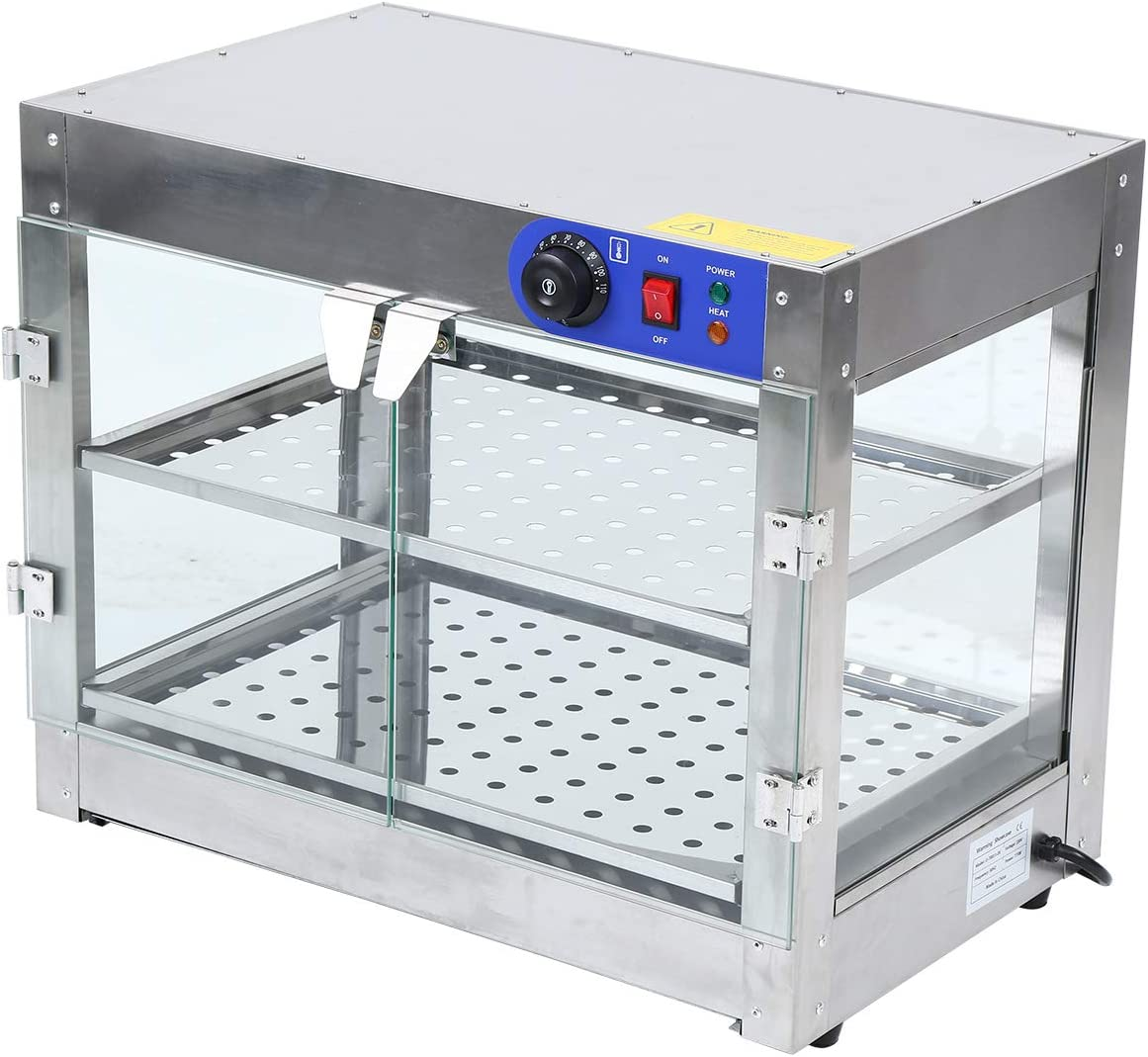 Samger Today's only 750W 2-Tier Food Warmer Commercial Credence Display Countertop Piz
