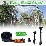 Landrip Trampoline Sprinklers, Trampoline Water Hose Backyard Waterpark, Outdoor Summer Water Fun for Boys Girls (26.2 Feet)