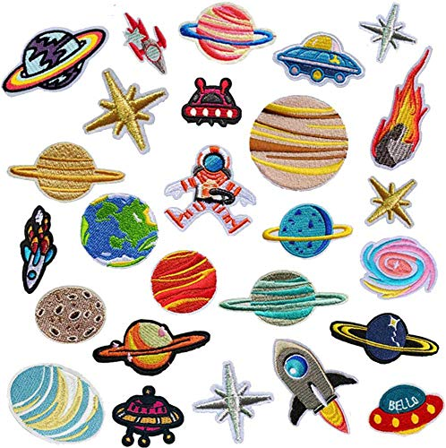Lakind applicatie voor kinderen, 26 stuks, astronaut patches om op te strijken, strijkpatch, strijkpatch, opstrijkpatch…