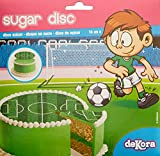 Football Disque en Sucre 16 cm Football sans Gluten sans Colorants Azoïques 15 g