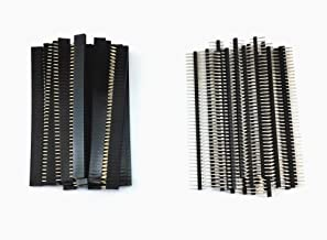Honbay 40pcs 40 Pin Single Row Male and Female Pin Header Connector Kit PCB Pin Strip for Arduino